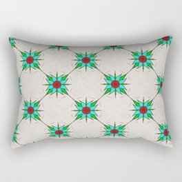 Aquilegia Flower Rectangular Pillow