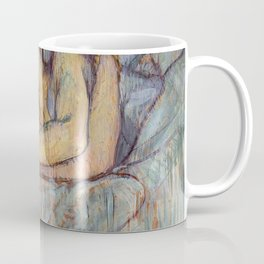 Henri De Toulouse Lautrec In Bed The Kiss Painting Coffee Mug