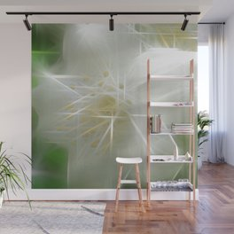 White Shiny Jasmine Wall Mural