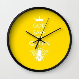 God Save the Queen (Bee) Wall Clock