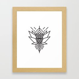 Owl Minimal Framed Art Print