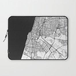 Tel Aviv Map Gray Laptop Sleeve