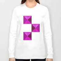 abyss Long Sleeve T-shirts featuring Purple Abyss by Peter Gross