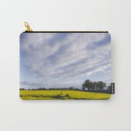 sunset sky over yellow rapeseed field. norfolk, uk Carry-All Pouch