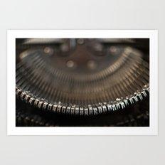 Type Keys Art Print