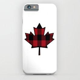 Plaid Maple Leaf iPhone Case