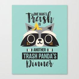 Trash Panda / Raccoon / Cute Animal Canvas Print