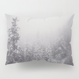 Snowy Forest - Landscape and Nature Photography Pillow Sham