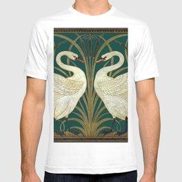Walter Crane's Swan, Rush, Iris T-shirt