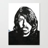 dave grohl Canvas Prints featuring Dave Grohl (2) by Carolyn Campbell