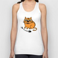 my mad fat diary Tank Tops featuring FAT CAT by Alberto Corradi
