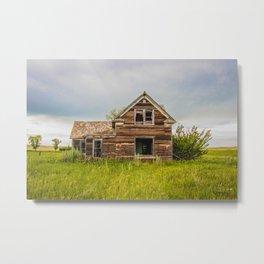 Roadside Homestead, North Dakota 5 Metal Print