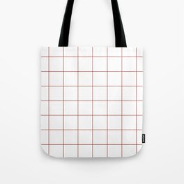 Graph Paper (Maroon & White Pattern) Tote Bag