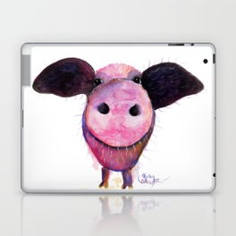 Nosey Pig ' Pigs CAN Fly ' by Shirley MacArthur Laptop & iPad Skin
