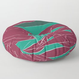 Picasso - On the beach (Bordeaux Green) Floor Pillow