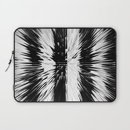 169 - Black and white spikey stripes Laptop Sleeve
