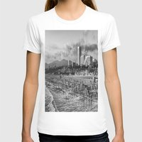santa monica T-shirts featuring Santa Monica Beach  by Edouard Campos