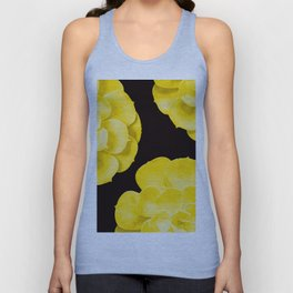 Large Yellow Succulent On Black Background #decor #society6 #buyart Unisex Tank Top