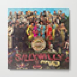 Sgt. Pepper's Lonely Heart Club Band - Legobricks Metal Print