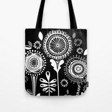 Folksy Flowerheads reverse Tote Bag