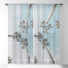 Palm Trees XI Sheer Curtain