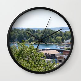 Harbor Springs Bay- View from Bluff (1) Wall Clock
