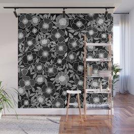 Poppy Black Wall Mural