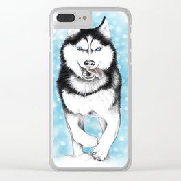 Siberian Husky Clear iPhone Case