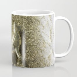 Gold Clay Dog in the Snow, No. 1 Coffee Mug
