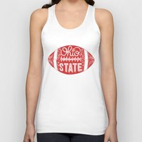 ohio state Tank Tops featuring Ohio State Football by Kasi Turpin