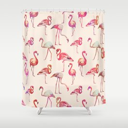 Flamingo Happiness Shower Curtain