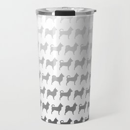 Chihuahua Silhouettes Pattern Travel Mug