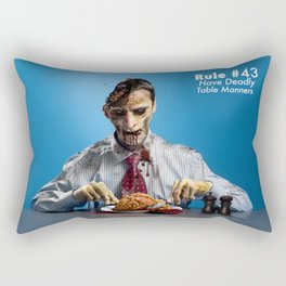 Zombie Etiquette : Table Manners Rectangular Pillow