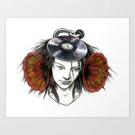 Record Head Art Print
