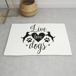 Live Love Dogs - Funny Dog Quotes Rug