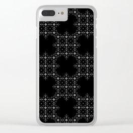 xx Ultra Black print Clear iPhone Case