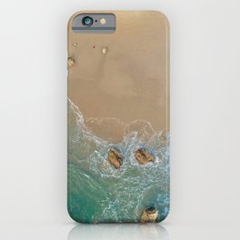 Clear Ocean and Sand iPhone Case