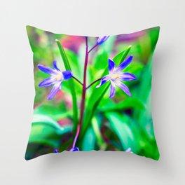 Siberian Squill Flower Throw Pillow