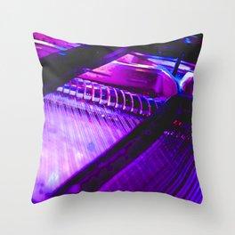 Neon Piano Throw Pillow