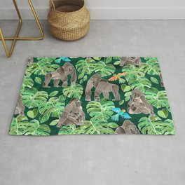 Gorillas in the Emerald Forest Rug