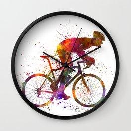 cyclist road bicycle Wall Clock