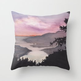 Weekend watercolor Throw Pillow