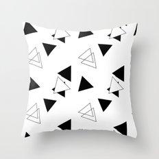 Modern Black Triangles Throw Pillow