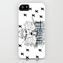 #STUKGIRL H.B.I.C iPhone Case
