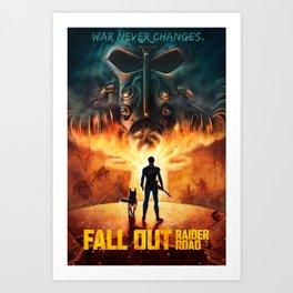 FALL OUT: RAIDER ROAD Art Print
