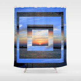 Spactial Distortion Shower Curtain