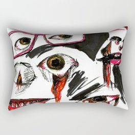 Face collage Rectangular Pillow