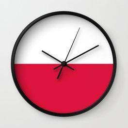 flag of poland Wall Clock