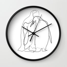 Line Art - Noot Noot Wall Clock