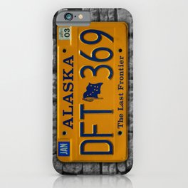 Alaska License Plate The Last Frontier Tag Photographic Art iPhone Case